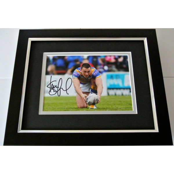 Kevin Sinfield SIGNED 10X8 FRAMED Photo Autograph Display Leeds Rhinos PROOF COA PERFECT GIFT
