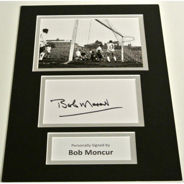 Bob Moncur SIGNED autograph A4 Photo Mount Display Newcastle United & COA AFTAL MEMORABILIA