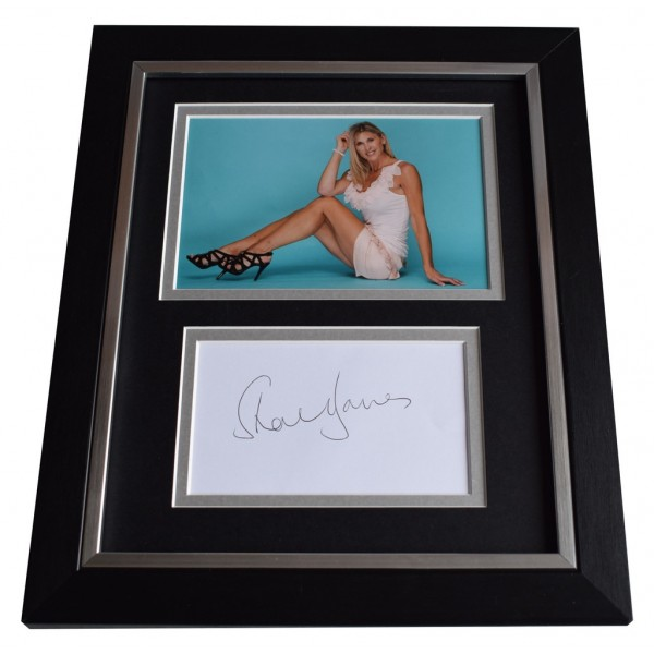 Sharron Davies SIGNED 10x8 FRAMED Photo Autograph Display Olympic Swimming AFTAL  COA Memorabilia PERFECT GIFT