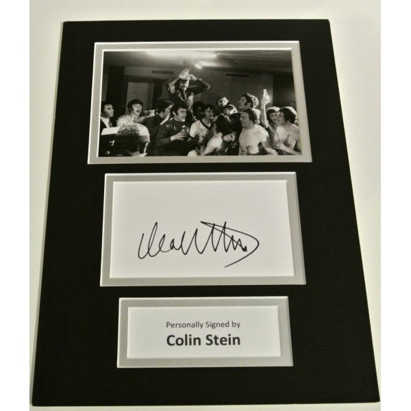 Colin Stein SIGNED autograph A4 Photo Mount Display Glasgow Rangers  AFTAL & COA Memorabilia PERFECT GIFT