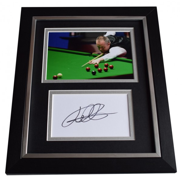 John Higgins SIGNED 10x8 FRAMED Photo Autograph Display Snooker Sport  AFTAL  COA Memorabilia PERFECT GIFT