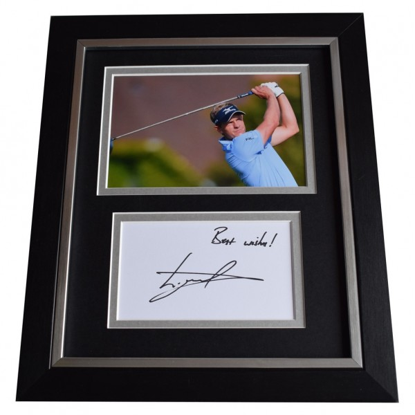 Luke Donald SIGNED 10x8 FRAMED Photo Autograph Display Golf Sport AFTAL  COA Memorabilia PERFECT GIFT
