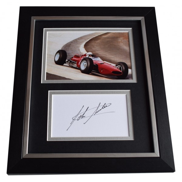 John Surtees SIGNED 10x8 FRAMED Photo Autograph Display Formula 1 Racing  AFTAL  COA Memorabilia PERFECT GIFT