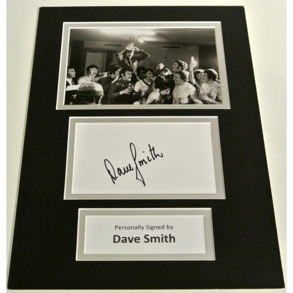 Dave Smith SIGNED autograph A4 Photo Mount Display Glasgow Rangers Football   AFTAL & COA Memorabilia PERFECT GIFT