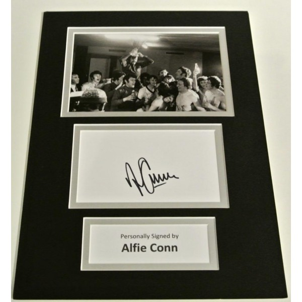 Alfie Conn SIGNED autograph A4 Photo Mount Display Glasgow Rangers Football AFTAL & COA Memorabilia    PERFECT GIFT