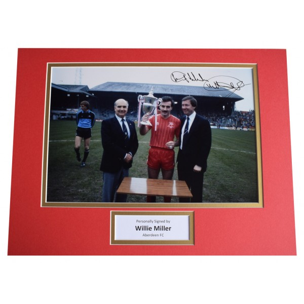 Willie Miller SIGNED autograph 16x12 photo display Aberdeen Football  AFTAL  COA Memorabilia PERFECT GIFT