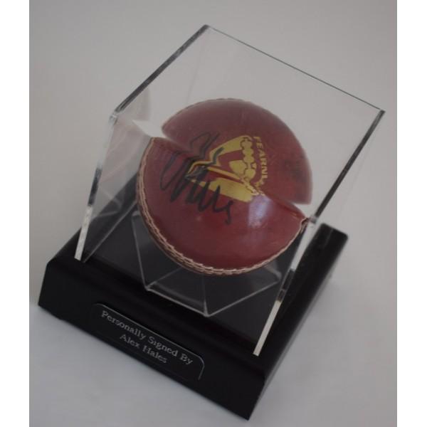 Alex Hales Signed Autograph Cricket Ball Display Case Sport England AFTAL  COA Memorabilia PERFECT GIFT