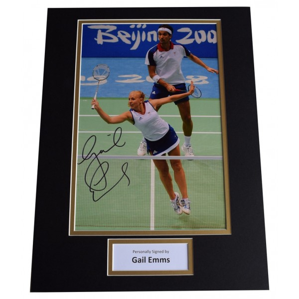 Gail Emms SIGNED autograph 16x12 photo display Olympic Badminton AFTAL  COA Memorabilia PERFECT GIFT