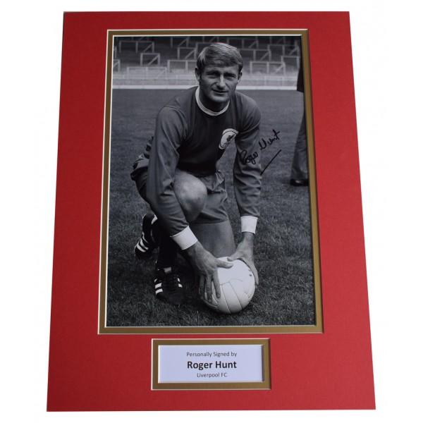 Roger Hunt SIGNED autograph 16x12 photo display Liverpool Football    AFTAL  COA Memorabilia PERFECT GIFT