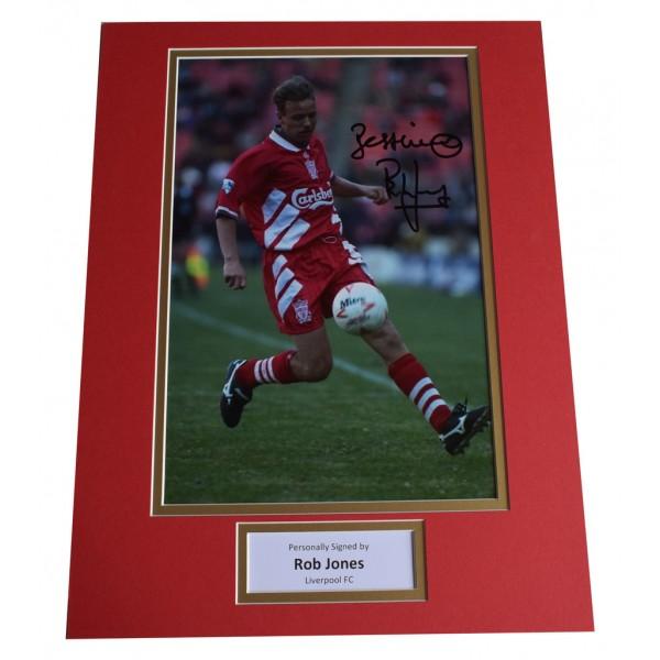 Rob Jones SIGNED autograph 16x12 photo display Liverpool Football     AFTAL  COA Memorabilia PERFECT GIFT