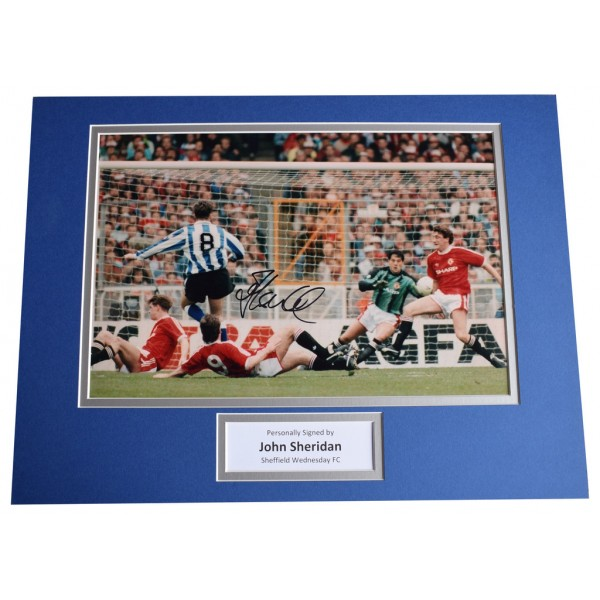 John Sheridan SIGNED autograph 16x12 photo display Sheffield Wednesday AFTAL  COA Memorabilia PERFECT GIFT
