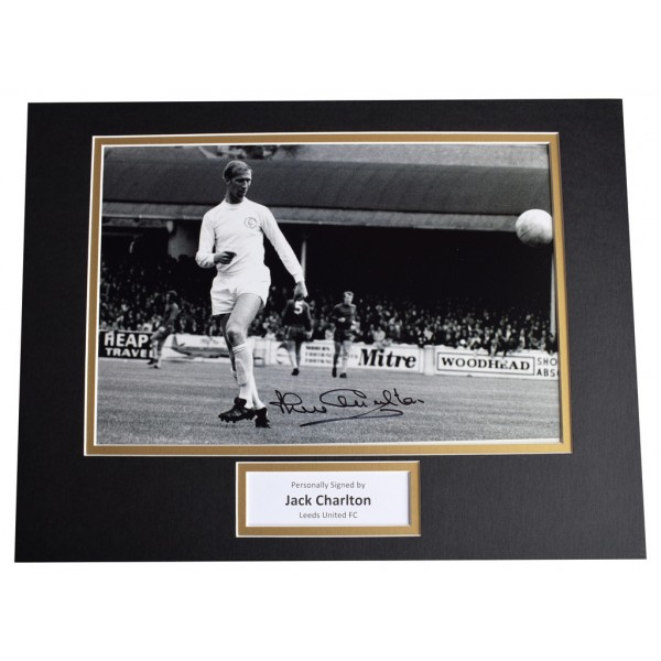Jack Charlton SIGNED autograph 16x12 photo display Leeds Football   AFTAL  COA Memorabilia PERFECT GIFT