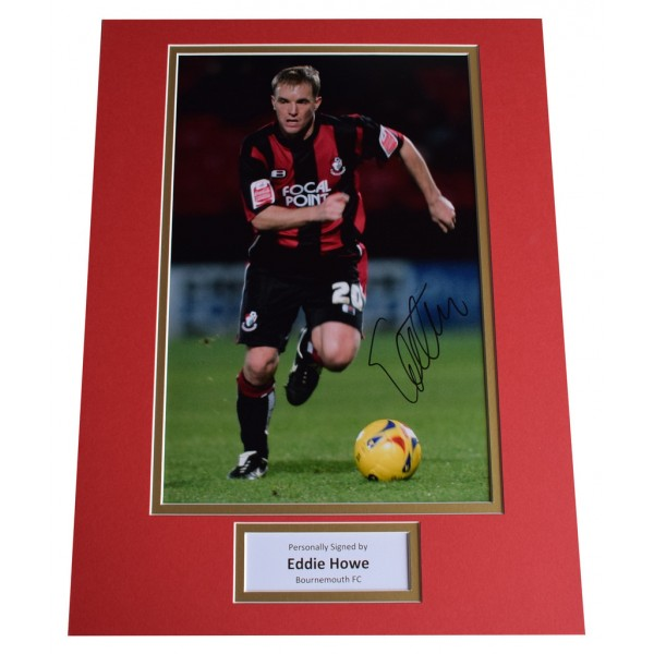 Eddie Howe SIGNED autograph 16x12 photo display Bournemouth FootballAFTAL  COA Memorabilia PERFECT GIFT