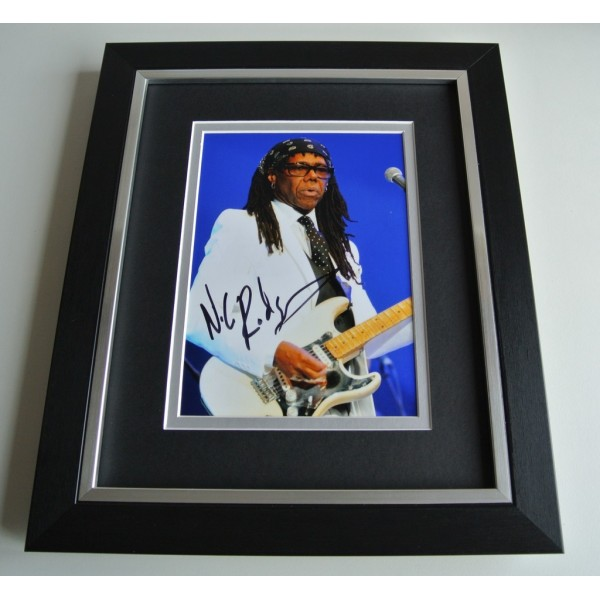 Nile Rodgers SIGNED 10x8 FRAMED Photo Autograph Display Chic Music Le Freak COA  PERFECT GIFT