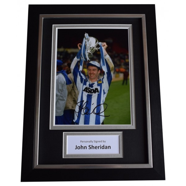 John Sheridan Signed A4 FRAMED Autograph Photo Display Sheffield Wednesday AFTAL  COA Memorabilia PERFECT GIFT