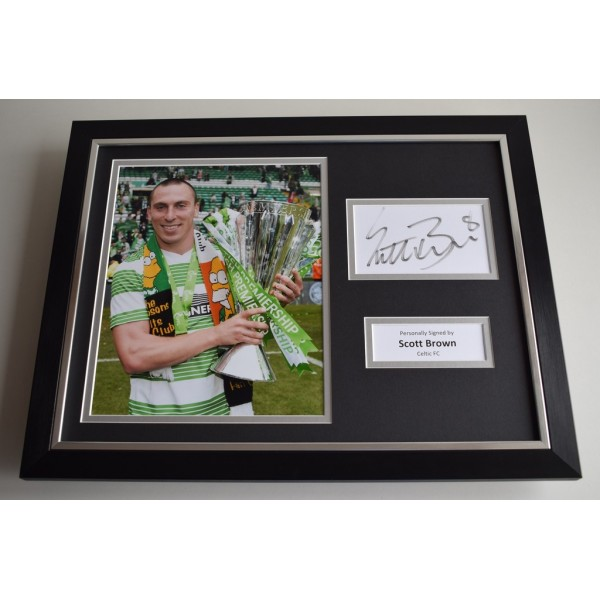 Scott Brown SIGNED FRAMED Photo Autograph 16x12 display Celtic  AFTAL & COA Memorabilia PERFECT GIFT