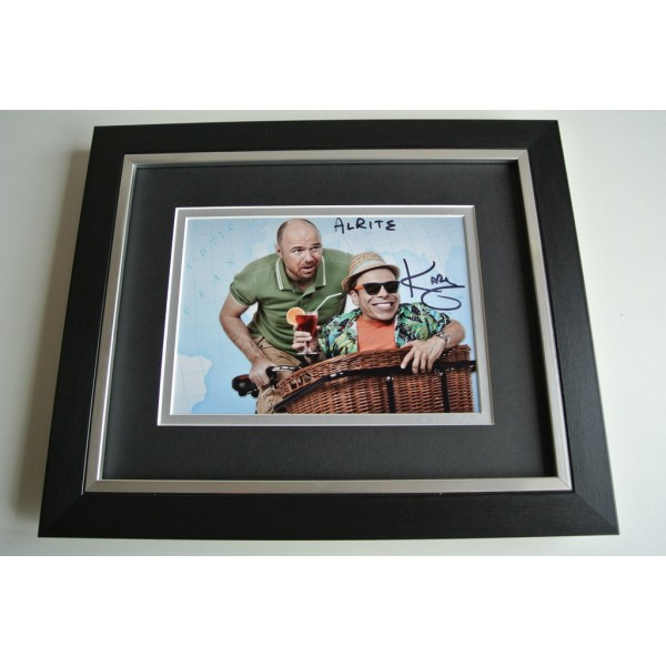 Karl Pilkington SIGNED 10x8 FRAMED Photo Autograph Display An Idiot Abroad COA         PERFECT GIFT
