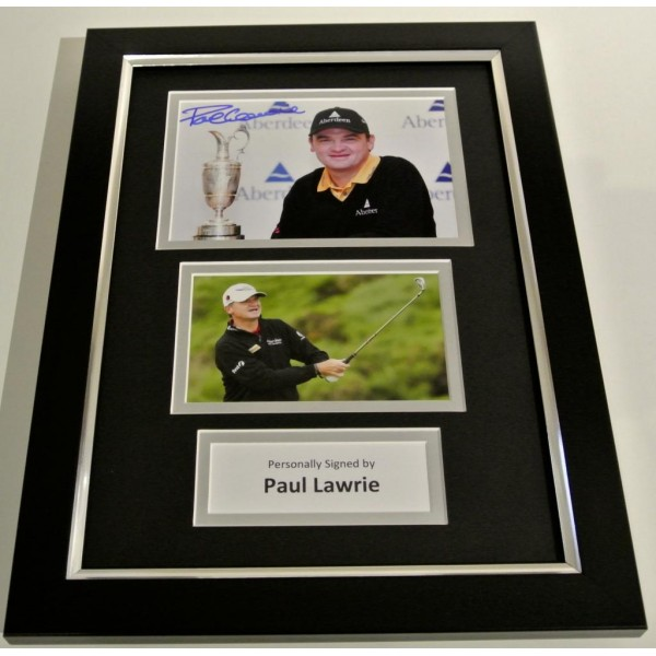 Paul Lawrie SIGNED FRAMED A4 Photo Autograph Mount Display Golf Champion & COA PERFECT GIFT
