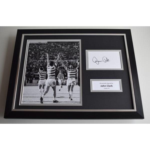 John Clark SIGNED FRAMED Photo Autograph 16x12 display Celtic  AFTAL & COA Memorabilia PERFECT GIFT