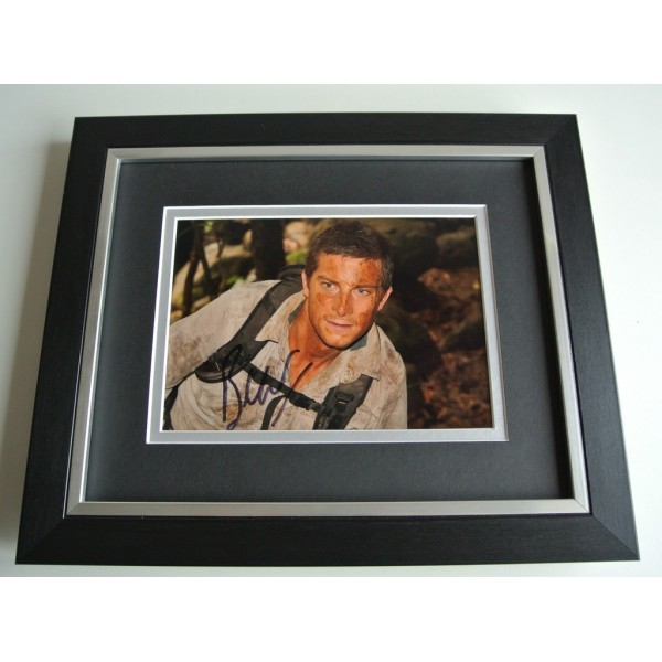 Bear Grylls SIGNED 10x8 FRAMED Photo Autograph Display SAS Man v Wild TV & COA            PERFECT GIFT