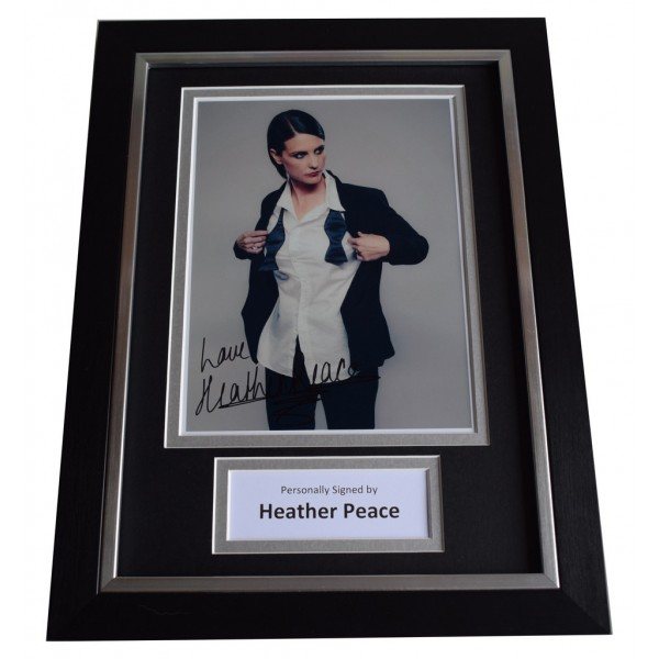 Heather Peace Signed A4 FRAMED Autograph Photo Display Music  AFTAL  COA Memorabilia PERFECT GIFT