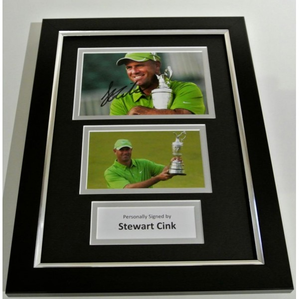 Stewart Cink SIGNED FRAMED A4 Photo Autograph Mount Display Golf Champion & COA CLEARANCE