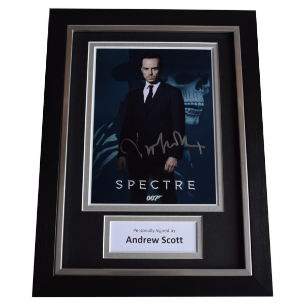 Andrew Scott Signed A4 FRAMED Autograph Photo Display James Bond Spectre AFTAL  COA Memorabilia PERFECT GIFT