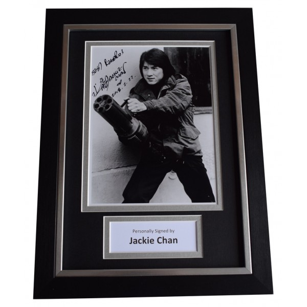 Jackie Chan Signed A4 FRAMED Autograph Photo Display Martial Arts Film AFTAL  COA Memorabilia PERFECT GIFT