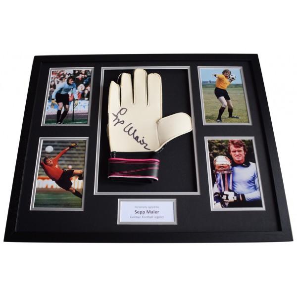 Sepp Maier Signed FRAMED Goalkeeper Glove HUGE photo display German Football    AFTAL  COA Memorabilia PERFECT GIFT