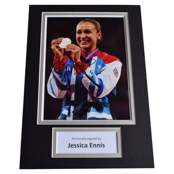 Jessica Ennis Signed Autograph A4 photo display Olympic Athletics  AFTAL  COA Memorabilia PERFECT GIFT