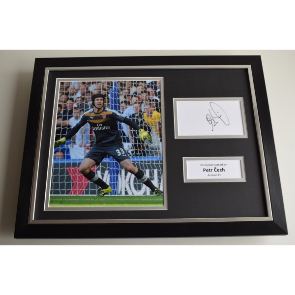 Petr Cech SIGNED FRAMED Photo Autograph 16x12 display Arsenal FC  AFTAL & COA Memorabilia PERFECT GIFT