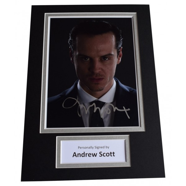 Andrew Scott Signed Autograph A4 photo display Sherlock Film   AFTAL  COA Memorabilia PERFECT GIFT
