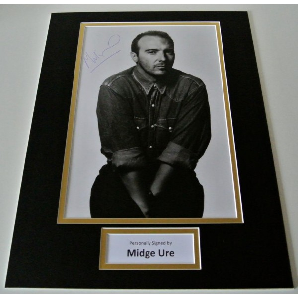Midge Ure SIGNED autograph 16x12 photo display Ultravox Music Memorabilia AFTAL & COA Memorabilia PERFECT GIFT