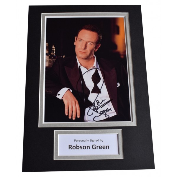 Robson Green Signed Autograph A4 photo display Wire in the Blood TV AFTAL  COA Memorabilia PERFECT GIFT