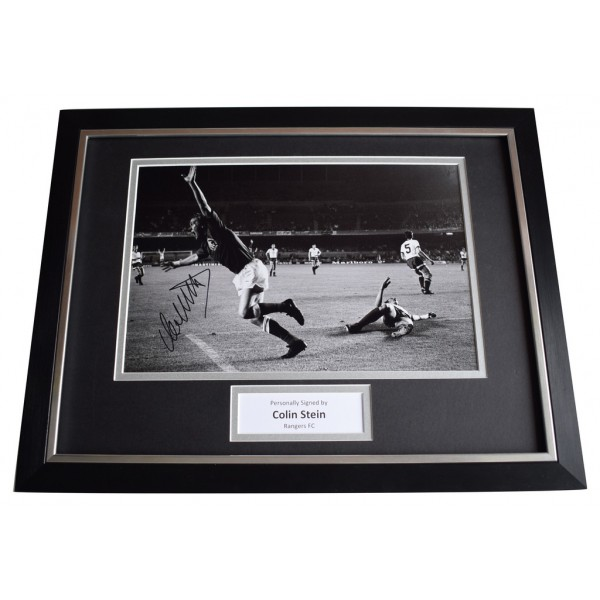 Colin Stein SIGNED FRAMED Photo Autograph 16x12 display Rangers Football  AFTAL  COA Memorabilia PERFECT GIFT