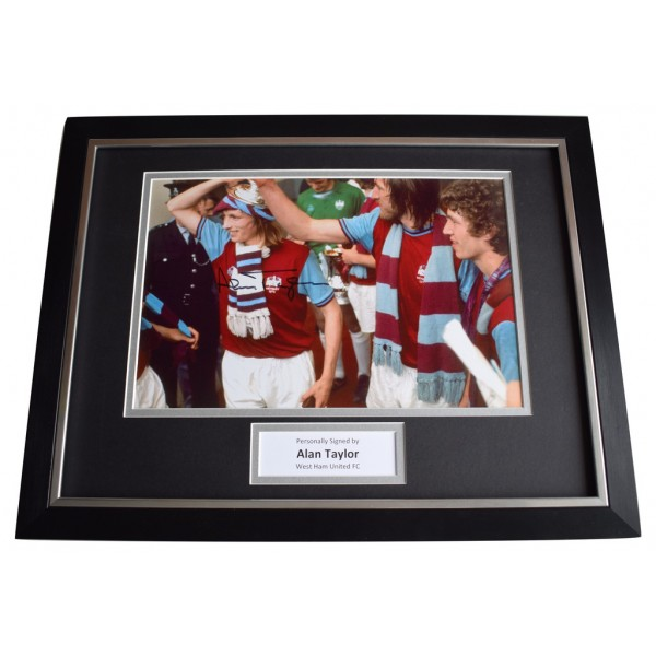 Alan Taylor SIGNED FRAMED Photo Autograph 16x12 display West Ham United   AFTAL  COA Memorabilia PERFECT GIFT