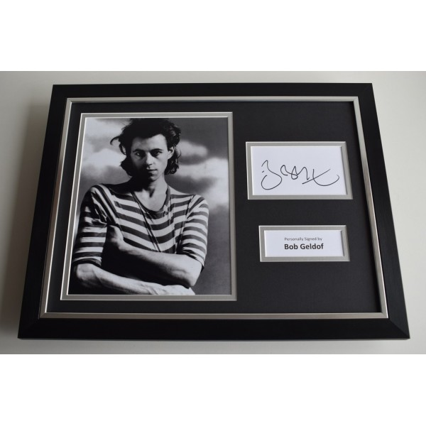 Bob Geldof SIGNED FRAMED Photo Autograph 16x12 display Music AFTAL & COA Memorabilia PERFECT GIFT