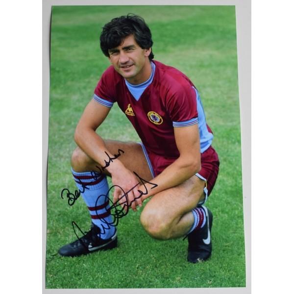 Dennis Mortimer SIGNED 12x8 Photo Autograph Aston Villa Football AFTAL  COA Memorabilia PERFECT GIFT