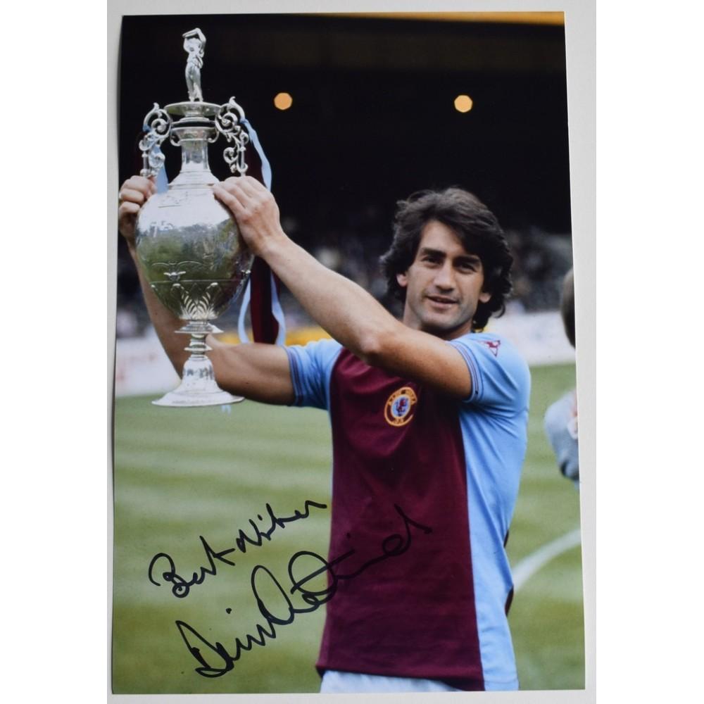 Dennis Mortimer Signed 12x8 Photo Autograph Aston Villa Football Coa Memorabilia