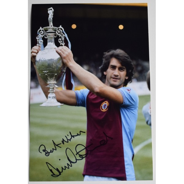 Dennis Mortimer SIGNED 12x8 Photo Autograph Aston Villa Football AFTAL  COA Memorabilia PERFECT GIFT