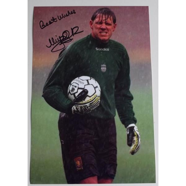 Nigel Spink SIGNED 12x8 Photo Autograph Aston Villa Football AFTAL  COA Memorabilia PERFECT GIFT
