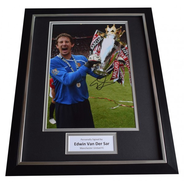 234e316ceef Edwin Van Der Sar SIGNED FRAMED Photo Autograph 16x12 display Manchester  United AFTAL COA Memorabilia PERFECT