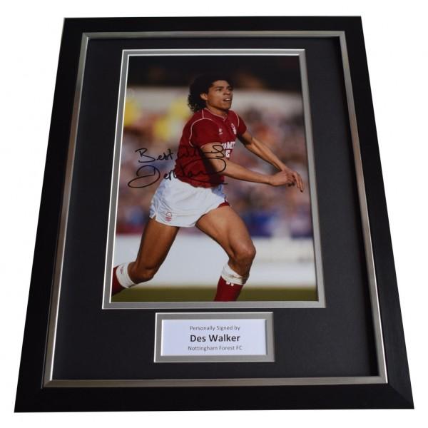 Des Walker SIGNED FRAMED Photo Autograph 16x12 display Nottingham Forest  AFTAL  COA Memorabilia PERFECT GIFT
