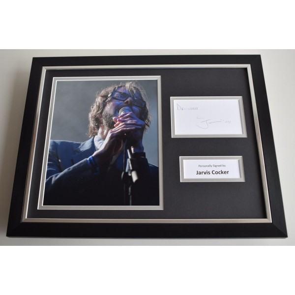 Jarvis Cocker SIGNED FRAMED Photo Autograph 16x12 display Music  AFTAL & COA Memorabilia PERFECT GIFT