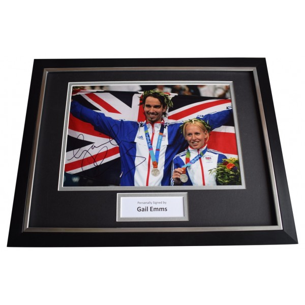 Gail Emms SIGNED FRAMED Photo Autograph 16x12 display Olympic Badminton  AFTAL  COA Memorabilia PERFECT GIFT