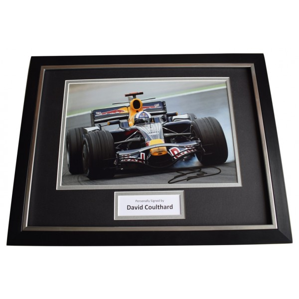 David Coulthard SIGNED FRAMED Photo Autograph 16x12 display Formula 1 Racing AFTAL  COA Memorabilia PERFECT GIFT