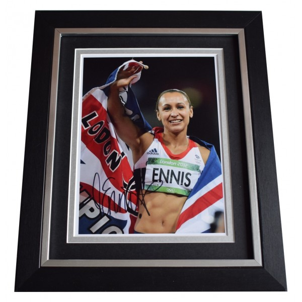 Jessica Ennis-Hill SIGNED 10x8 FRAMED Photo Autograph Display Olympic Athletics AFTAL  COA Memorabilia PERFECT GIFT