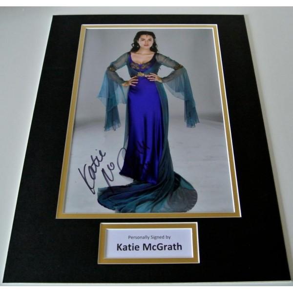 Katie McGrath SIGNED autograph 16x12 photo mount display Merlin TV Morgana  AFTAL & COA Memorabilia PERFECT GIFT