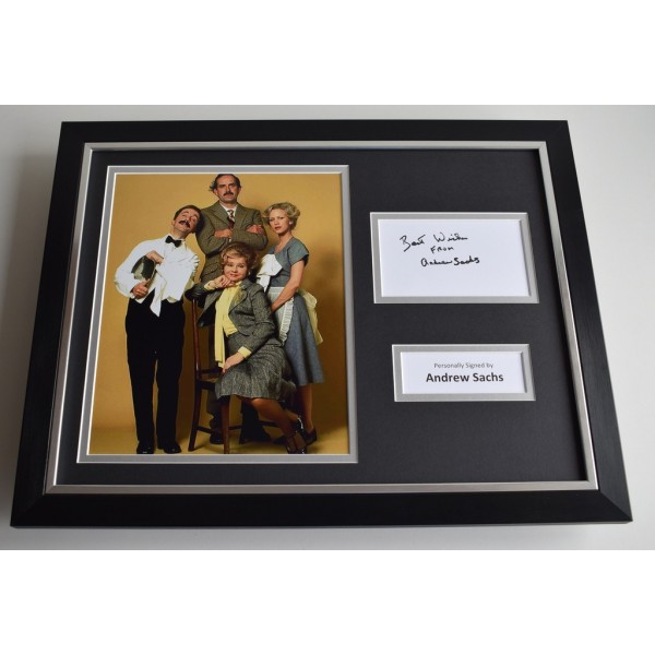 Andrew Sachs SIGNED FRAMED Photo Autograph 16x12 display Fawlty Towers   AFTAL & COA Memorabilia PERFECT GIFT