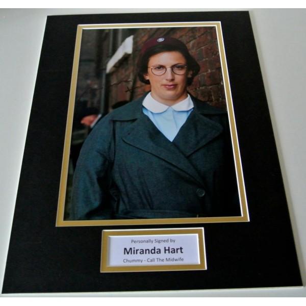 Miranda Hart SIGNED autograph 16x12 photo display Call The Midwife TV Chummy  AFTAL & COA Memorabilia PERFECT GIFT